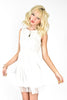 White Queen Beaded Dress - White