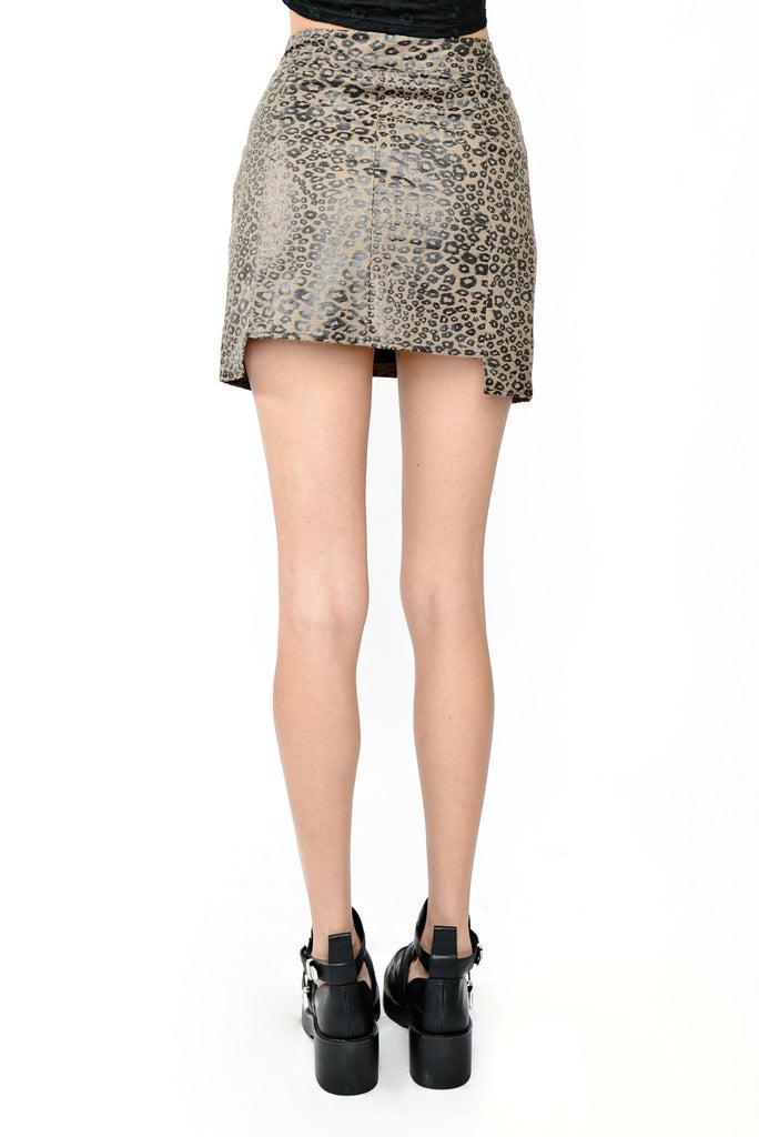 Jane of the Jungle Cheetah Print Skirt - Brown