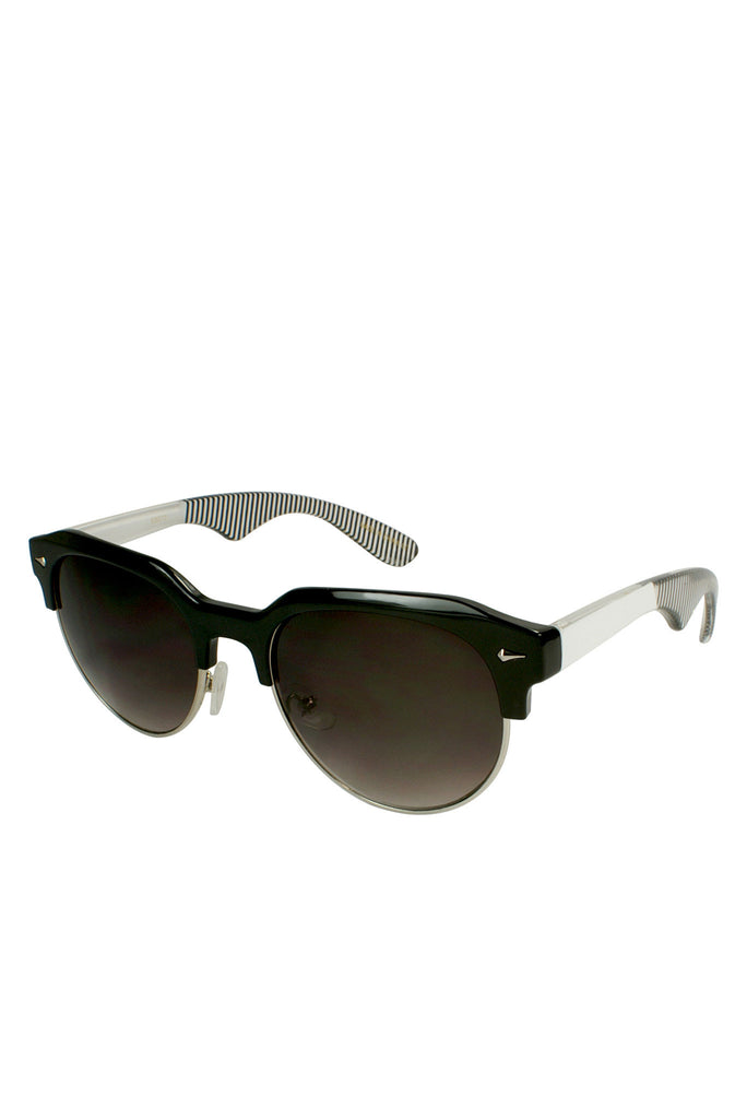 Pop Clubmaster Sunglasses - Black