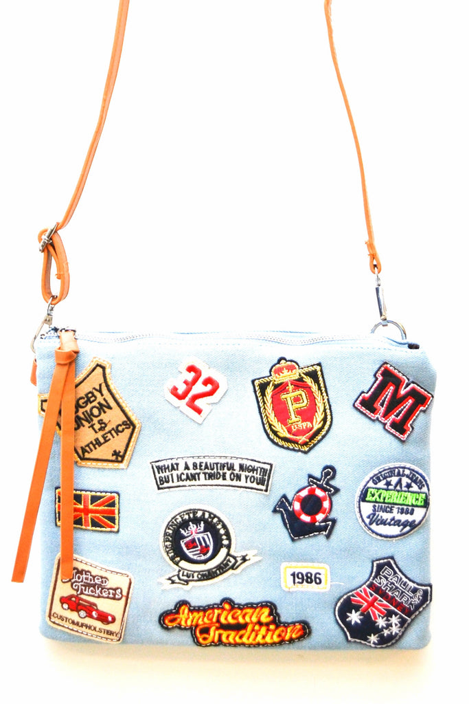 Rockin' Denim Patches Clutch