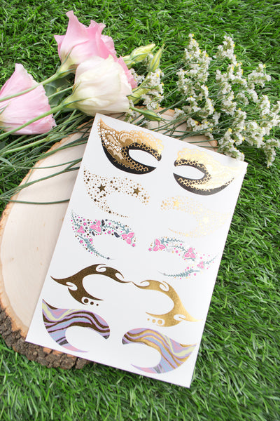 Masquerade Eye Mask Flash Tattoo