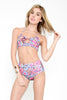 Motel Fluro Flower High Waisted Bikini Set