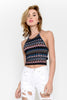 Zig and Zag Aztec Printed Halter Top