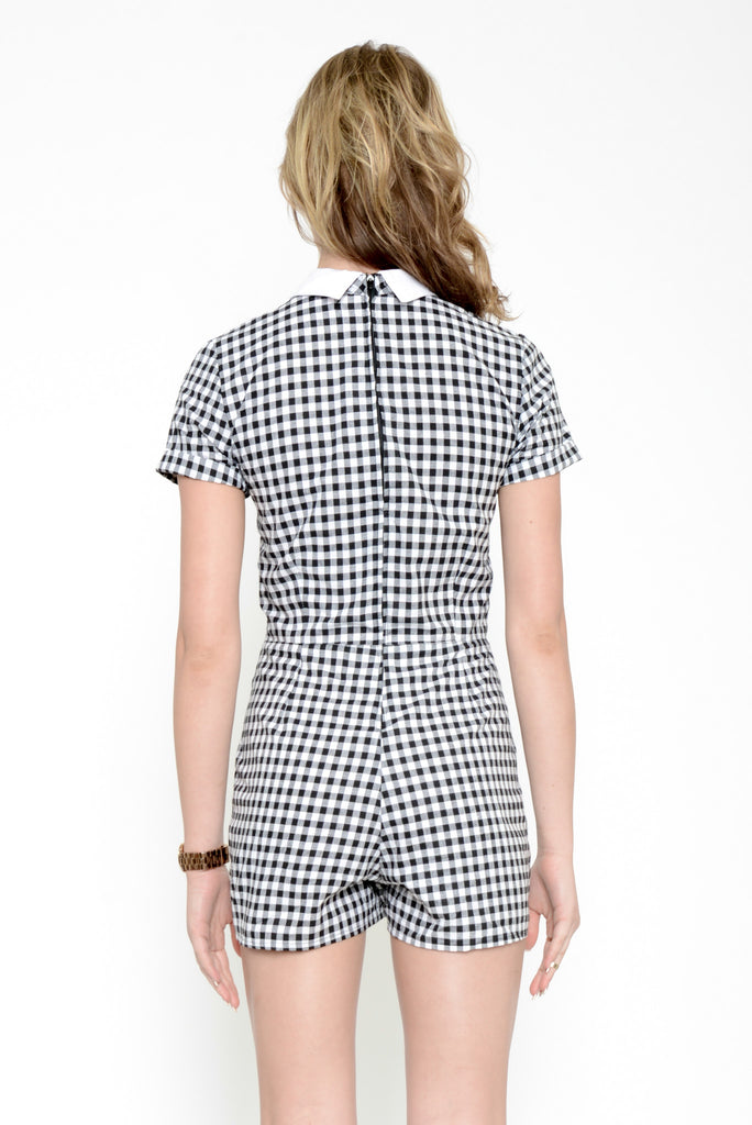 Motel Checkered Joni Jumpsuit - Black & White