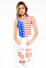 American Flag Stars and Stripes Bodysuit