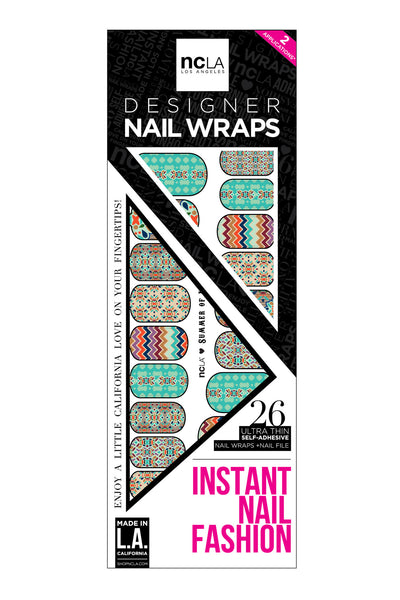 ncLA Summer of Love Nail Wraps