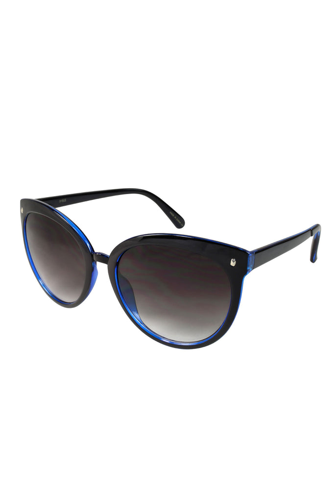 Retro Summer Cat Eye Sunglasses - Blue