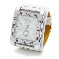 Fashion Leather Band Square Dial Quartz Watches