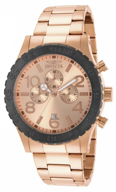Invicta Men's Specialty Quartz Chronograph Rose Gold Dial Watch