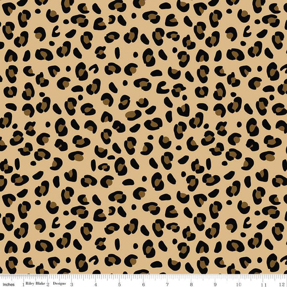 JULY PREORDER - Spotted - Spotted Leopard - Tan - Riley Blake - See Kate Sew