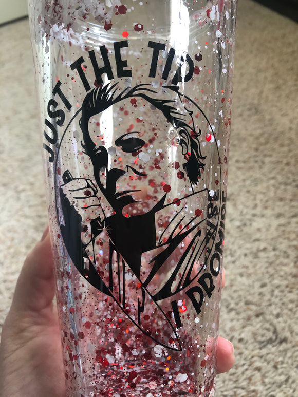 Just the Tip - Michael Myers - Flat Top Snow Globe Glitter Cup