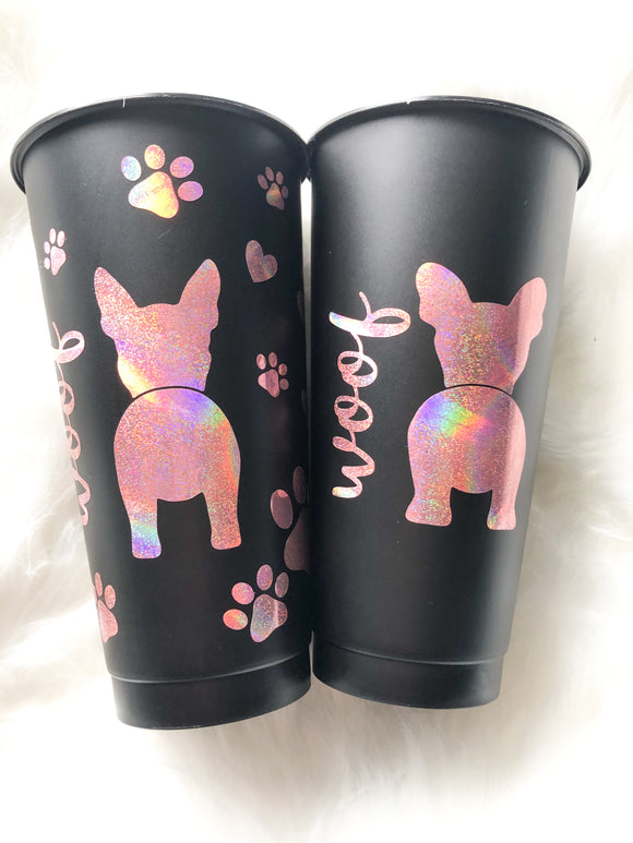 CHOOSE YOUR BREED! Dog Breed Matte Black 24 oz Cold Cup