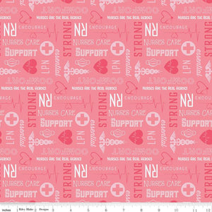 Nobody Fights Alone Nurses Care - Pink