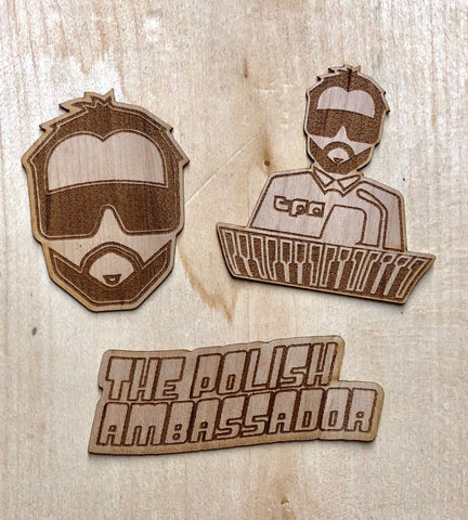 3 Pack of The Polish Ambassador Wood Stickers
