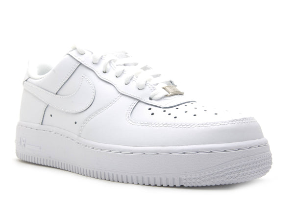 "Grade School Youth Size Nike Air Force 1 Low ""Triple White"" 314192 117"