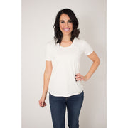 White Scoop Tee