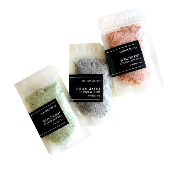 Botanical Bath Soak - Charcoal Sea Salt
