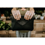 Black Kimnai Crossbody Clutch