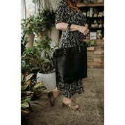 Black Sinuon Tote Bag