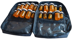 Razbag Deluxe Prescription Medication Bag, NEW Butterfly Loops to accommodate 12 large pill bottles and 8 standard size bottles or any combination of sizes, also 3 large pockets. Padded, Lockable, Portable