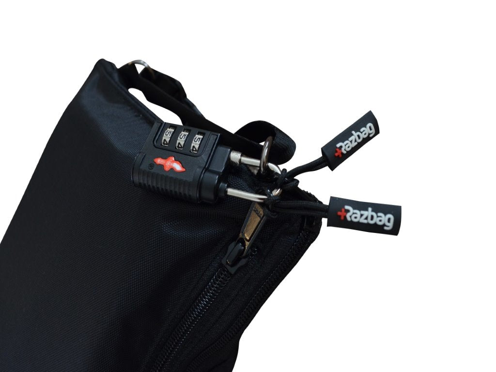 Razbag Traveler Prescription lockable bag portable