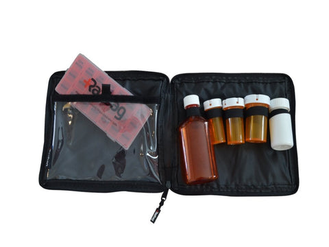 Image of Razbag Traveler pouch holds 5 prescriptions free pillbox
