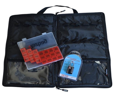 Image of Razbag Lockable Medicine bag with FREE pillbox and TSA Lock