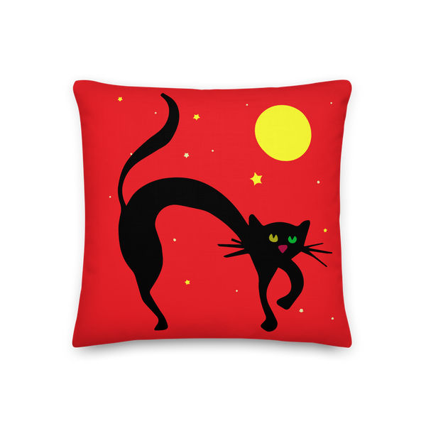 Red Cat Pillow
