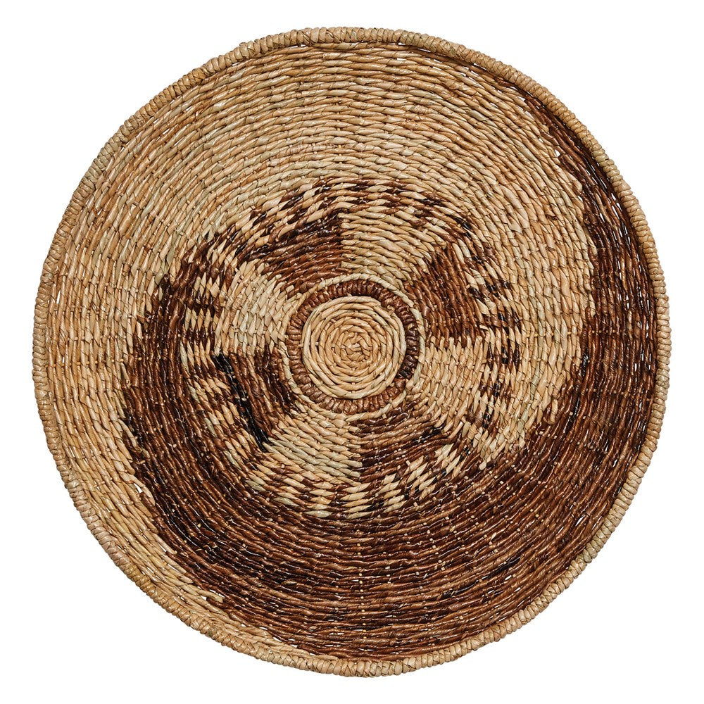 Hand-Woven Seagrass & Madras Wall Basket
