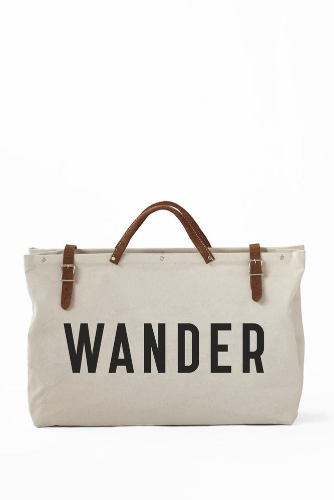 White Wander Canvas Utility Bag