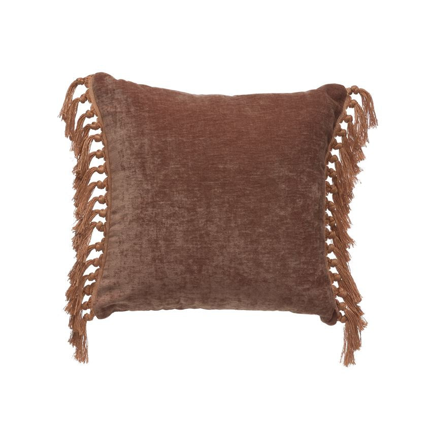 Rose Fringe Pillow