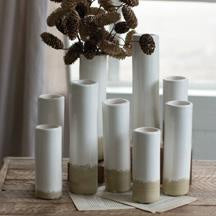 Large Neutral Bud Vase