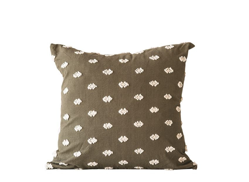 Olive Embroidered Pillow