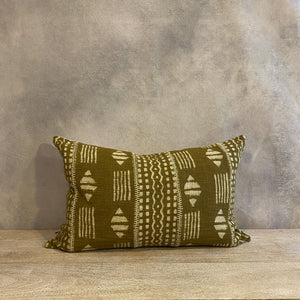 Load image into Gallery viewer, Chartreuse Dabu Pillow