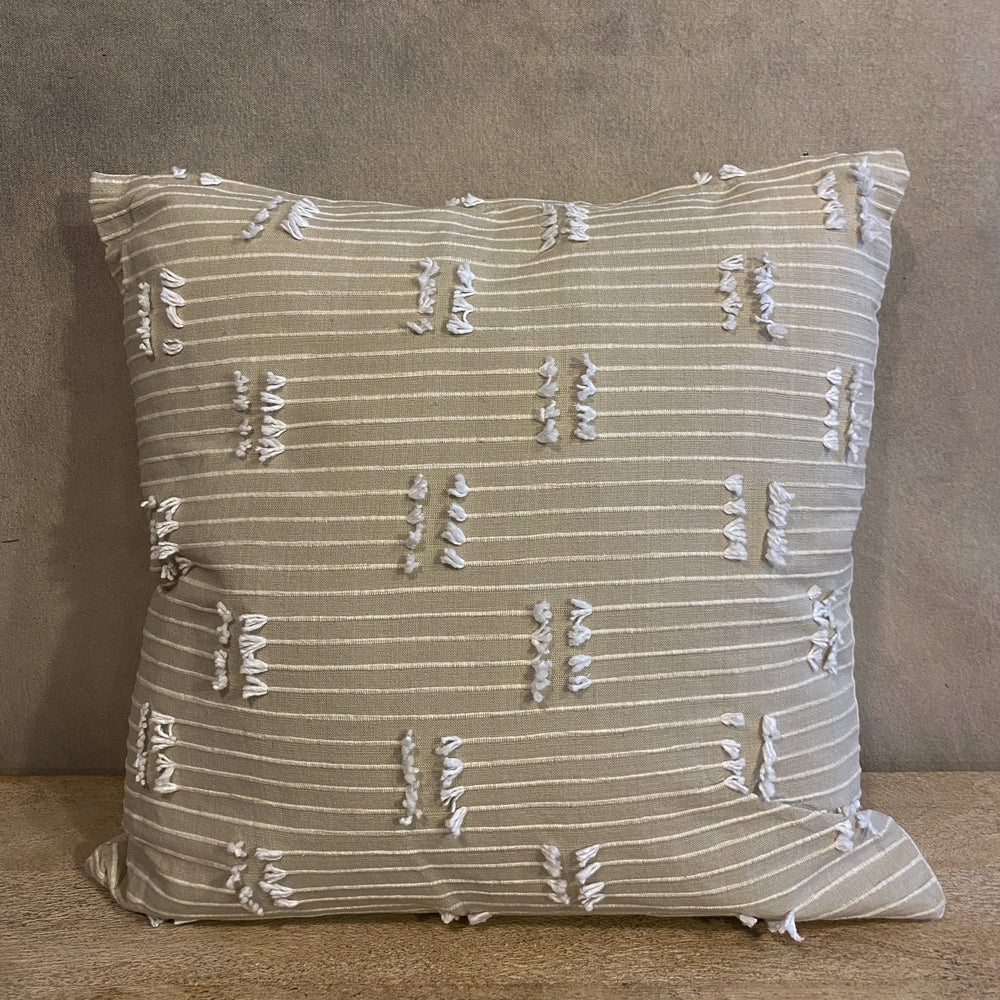 Square Woven Cream Pillow