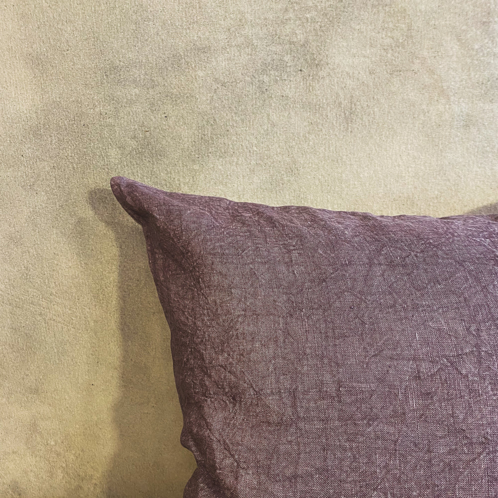Load image into Gallery viewer, Plum Linen Pillow