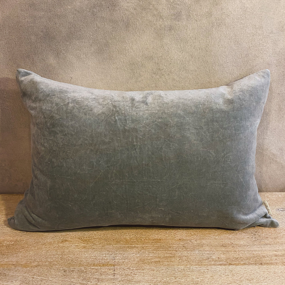 Green Tea Velvet Pillow