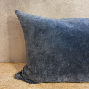 Load image into Gallery viewer, Steel Gray Velvet Pillow