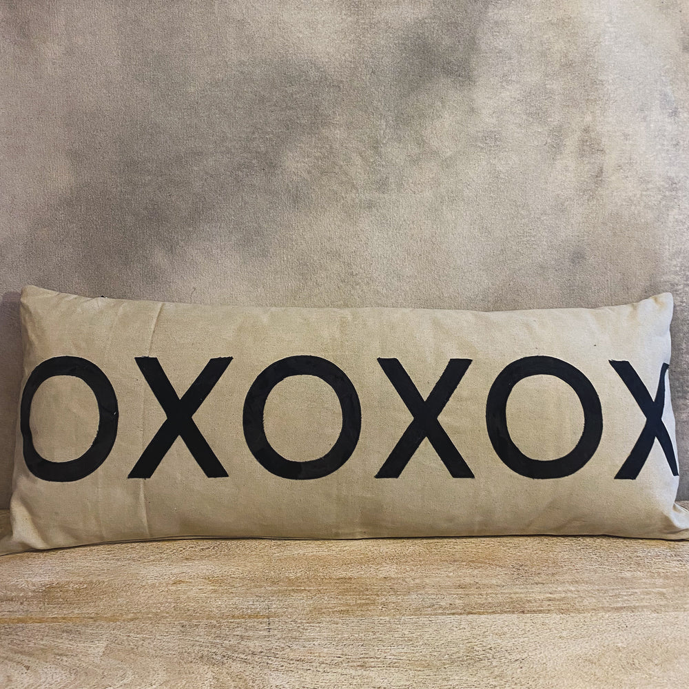 Load image into Gallery viewer, Canvas & Cotton XO Lumbar Pillow