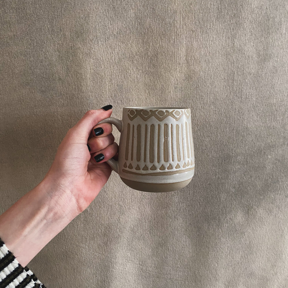 Load image into Gallery viewer, Hand Painted Beige Mugs
