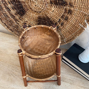Load image into Gallery viewer, Tiered Vintage Woven Basket