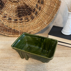 Load image into Gallery viewer, Vintage Avocado Green Planter