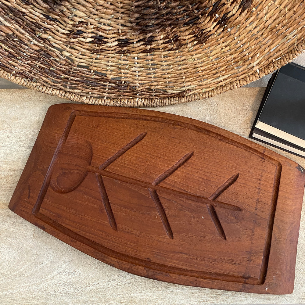 Vintage Wood Serving Tray