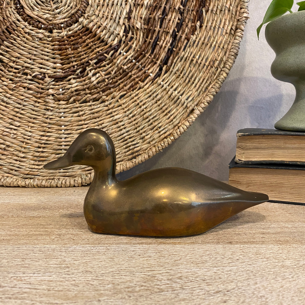 Small Vintage Brass Decoy