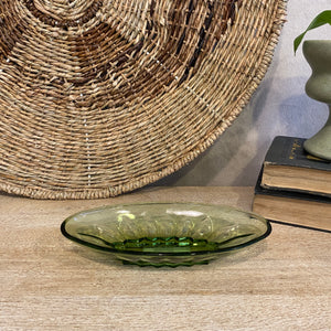 Load image into Gallery viewer, Vintage Green Oval Dish