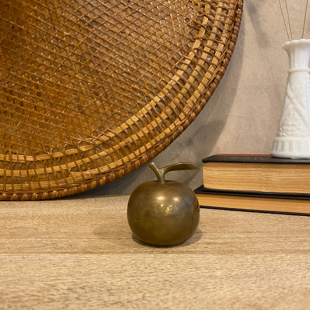 Small Vintage Brass Apple Bell