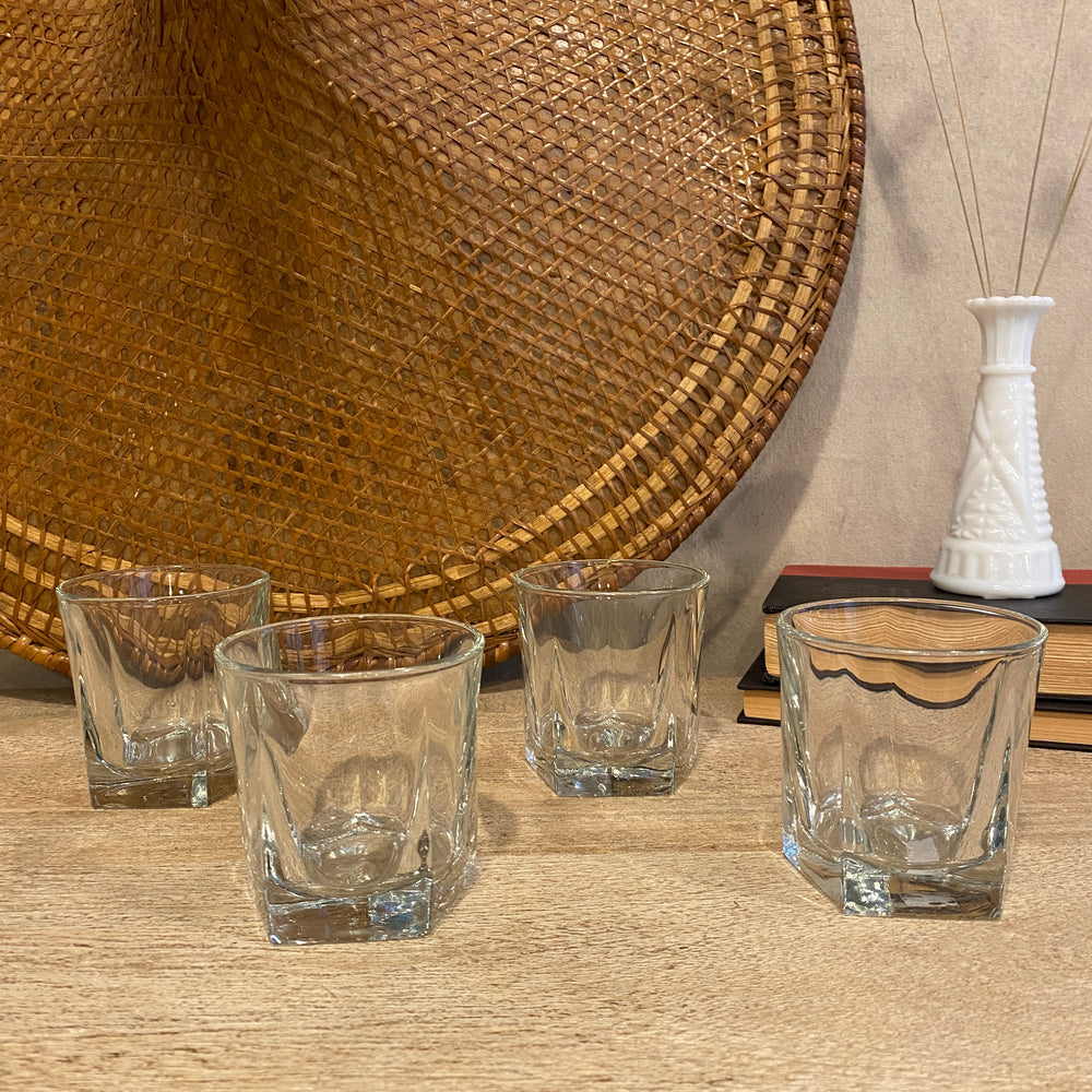 Vintage Rock Glass Set of 4