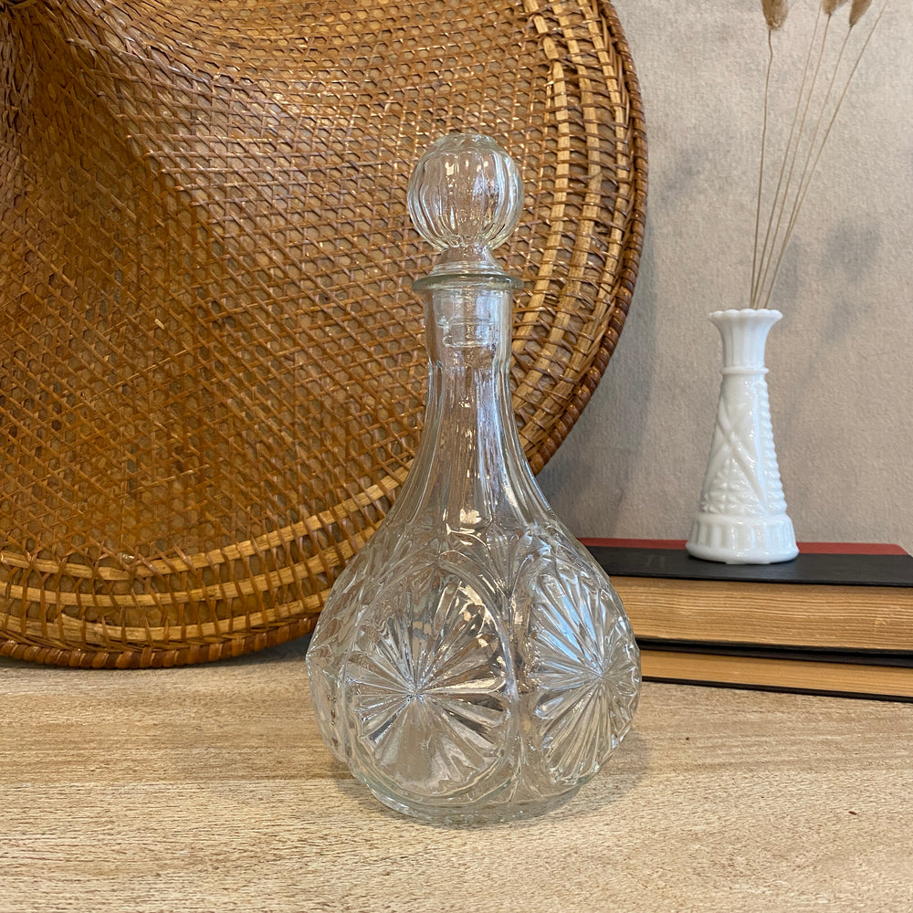 Round Vintage Crystal Decanter