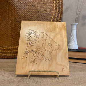 Load image into Gallery viewer, Vintage Wood Cat Art Series