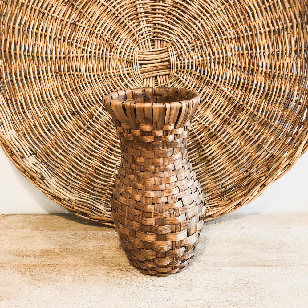 Tall Woven Vintage Basket